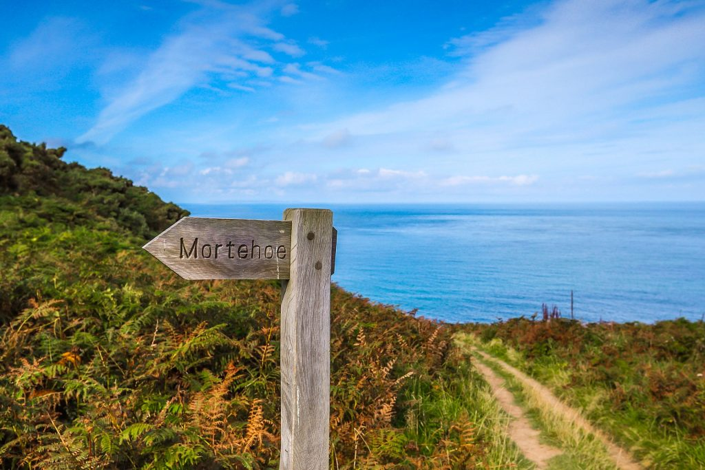 Morthoe Coast Path Sign