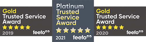 Feefo Gold and Platinum Awards